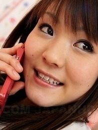Fuwari masturbates on the phone