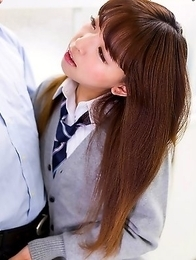 Schoolgirl from japan Nishino Ena suck cock and masturbate