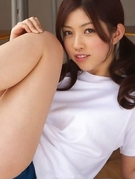 Azusa Togashi sportive loves showing nasty ass in shorts